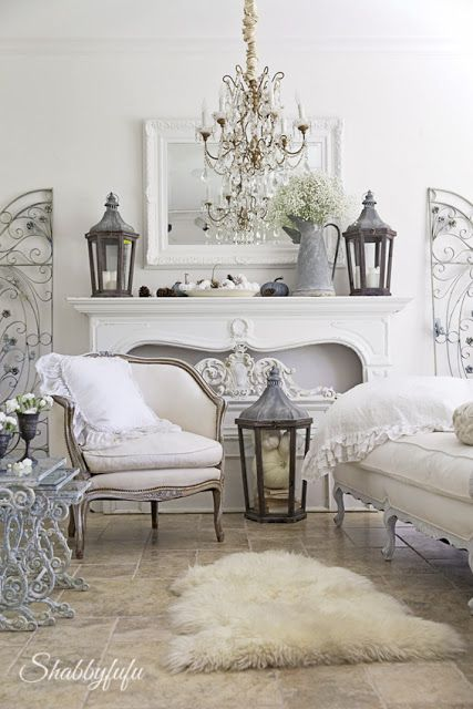 Look we love winter white rooms the local vault - Romantic living room ideas for feminine young ladies casa ...