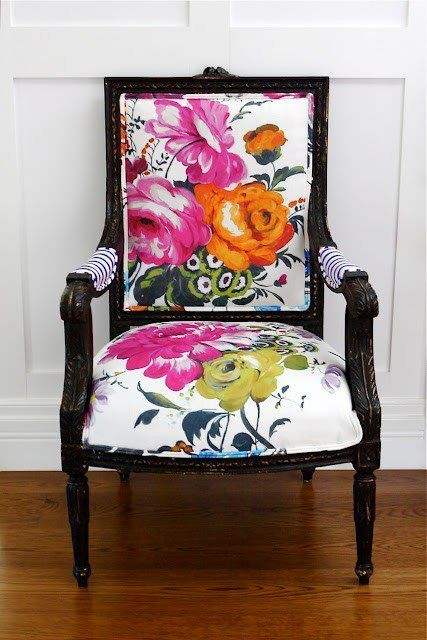 floral bergere chair