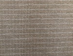 4 x 8 Beige Wool Rug with White Pinstripes