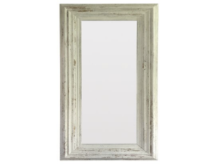 Large Distressed Whitewashed Framed Floor Mirror
