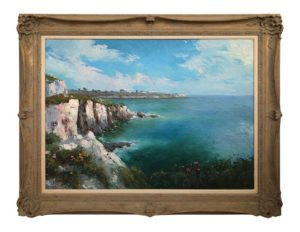 Seascape Impressionist Style Painting by William Visintin