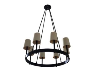 8-Light Oil Rubbed Bronze Round Chandelier