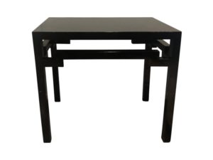 Asian Style Ebonized Side Table