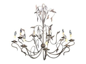 9 Light Aged Iron Chandelier