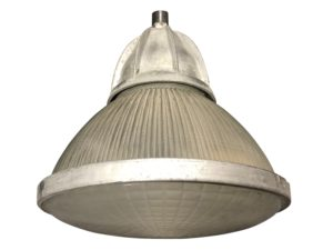 French Holophane Industrial Pendant Light, 6 Available