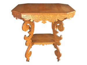 19th Century Victorian Eastlake Birch Occasional Table