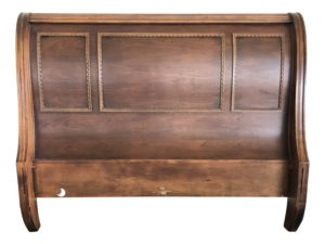 Sleigh Bed with Carved Detail