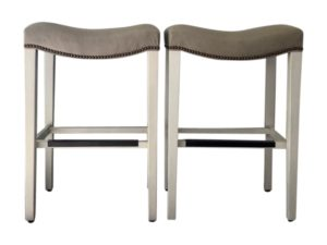 Hickory Chair  Madison Backless Counter Stools, Pair