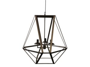 Astele Lantern Style 3 Light Grey/Brown Metal Chandelier
