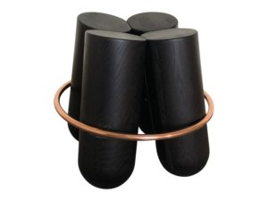 Astele Dark Wood and Copper Stool
