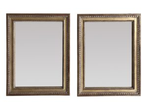 Pair of Gilt Mirrors with Mercury Glass