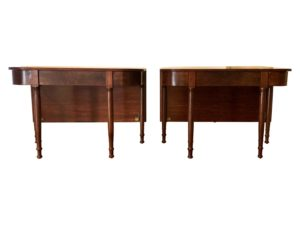 Antique American Mahogany 2-Piece Dining Table, 19th Century