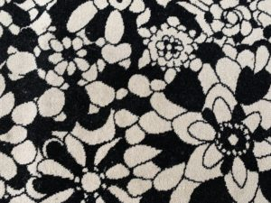 8 x 10 Missoni Black and White Floral Rug