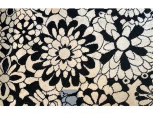 8′ x 10 ' Missoni Black and White Floral