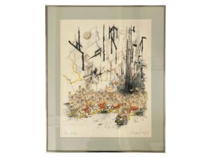 "Original Lithograph ""Mickey Day"" by Ronald Searle"