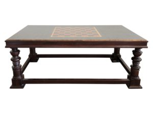 Checkerboard Game Table Wood Coffee Table