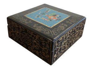 Asian Style Black Wooden Decorative Box