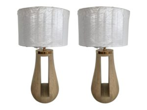 Resource Decor Wood Lamp with Cutout, Pair