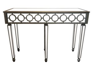 Mirrored Console with Circular Overlay Detail