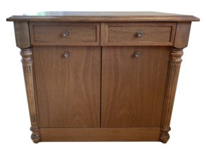 2 Drawer Cabinet with Inlay and Column Leg Detail