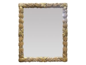 Louis J. Solomon Beveled Mirror with Gold Accents