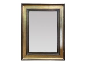 Louis J. Solomon Beveled Gold and Brown Mirror