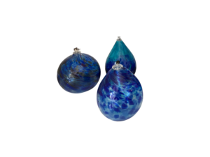 3 Blown Glass Oil Candles