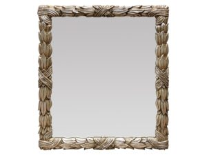 Louis J. Solomon Silver Beveled Mirror with Gold Accents