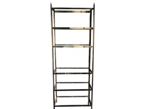 Trovare Home Brass and Glass Etagere