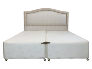 Upholstered King Headboard and Base with Storage