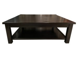 53″ Square Wood Two Tiered Coffee Table