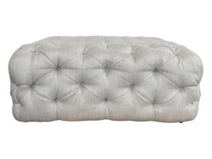 Modern Glam Style Square Tufted Ottoman